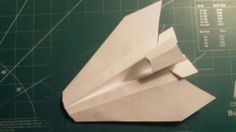 The Mohawk Paper Airplane is a stable, fast paper airplane with several features giving it a rather interesting shape.