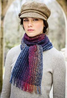 Women's Newsboy Cap and Killarney Striped Scarf at BBC Shop