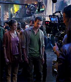 Insurgent BTS: His smile at the end tho :)