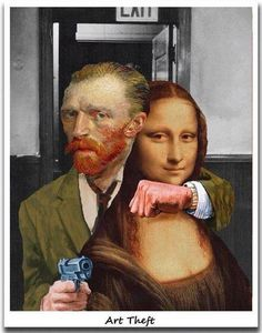 La #Joconde #Mona_Lisa retenue en otage par #Vincent_Van_Gogh