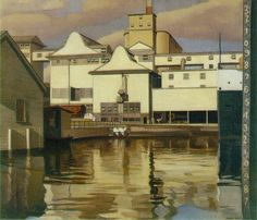 Charles Sheeler (American 1883–1965) [Precisionism, American Modernism] River Rouge Plant, 1932.