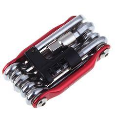 Herramientas para bicicletas EA14 11in1 Kit de Reparación de Bicicletas Conjunto de Herramientas de Reparación de Bicicletas Cadena de Bicicleta De acero Al Carbono Llave Destornillador Herramienta Multifunción