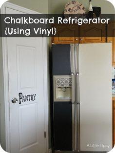 A Little Tipsy: Chalkboard Refrigerator