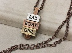 Summer is coming to a close, and we're soaking up the last few weekends to sail! #sailing #sailboat #nauticalnecklace