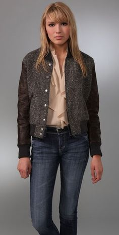 Oh for the love of tweed and varsity references. The double editors' pick, Of Two Minds Varsity Jacket. $455.