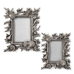 From the depths of the sea, Neptune Frames are encrusted with coral and shell designs and finished in an antique silver. $19.95 - $24.95