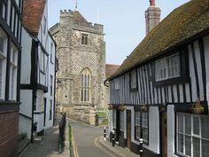 Casco antiguo de Hastings, East Sussex, Inglaterra