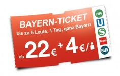 Bayern Ticket - Munich - Unlimited use of all regional trains in Bavaria for one day.