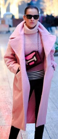 55994ee4607a Glitzalicious ♥s ♥s ♥s ♥s this pin of a Hermes pink bag, Pink Coat Trend by  Bittersweet Colours