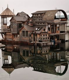 House on the water in Bayview, Idaho - USA.