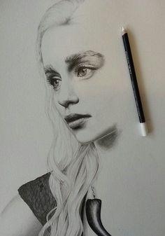 Khaleesi Daenerys Game of Thrones artist drawing