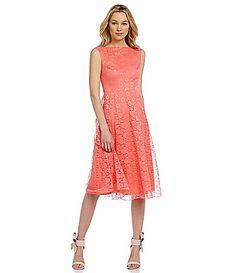 Betsey Johnson Sleeveless Lace Midi Dress #Dillards