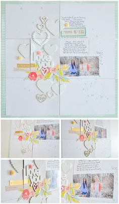 Wilna Furstenburg scrapbooking - use project life page protectors for a regular 12x12 layout