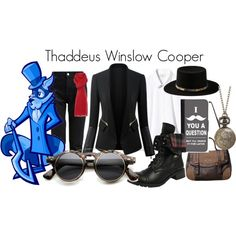 Thaddeus Winslow Cooper (Sly Cooper) by danielleweaver267 on Polyvore featuring CellPowerCases, Yves Saint Laurent, Linea, videogames and slycooper