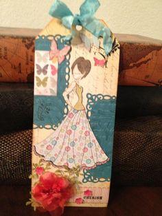 Prima Doll Stamp tag - Cherish