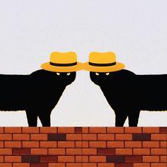 #catart #popart Cat Hat, Design Art, Pop Art, Cats, Gatos, Cat, Kitty, Art Pop, Kitty Cats
