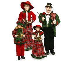 """The Jolly Christmas Shop - 41"""" Large Set of 4 Standing Caroler Family Christmas Figures 9725795, $299.00 (http://www.thejollychristmasshop.com/41-large-set-of-4-standing-caroler-family-christmas-figures-9725795/?page_context=category"""