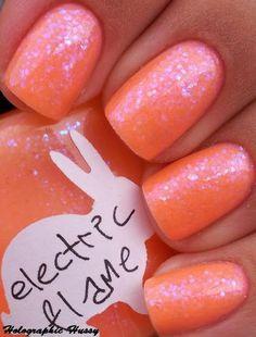 Sparkle Orange nails