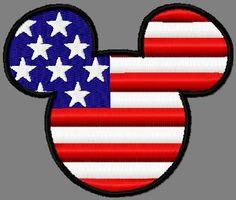Mr Mouse head flag stars n stripes