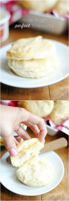 High Perfect Biscuits I spent years search for the perfect bicuit recipe, and THIS IS IT! Buttery and fluffed up a mile high.I spent years search for the perfect bicuit recipe, and THIS IS IT! Buttery and fluffed up a mile high. Breakfast Desayunos, Breakfast Recipes, Breakfast Biscuits, Breakfast Ideas, Snacks, I Love Food, Baking Recipes, The Best, Food Cakes