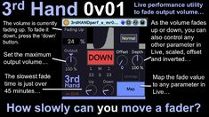 synthesizerwriter: Slow fades in live performance. Fade Up, Ableton Live, Posts, Blog, Messages, Blogging