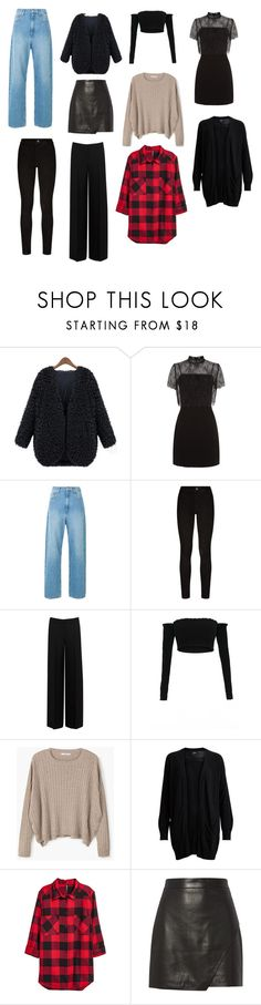 """""""Peças-Curinga inverno"""" by garciasara-sg on Polyvore featuring moda, WithChic, Sandro, Paige Denim, Alexander McQueen, MANGO, Object Collectors Item e Michelle Mason"""