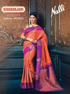 Code: SR15024 - Kanchipuram Silk Saree To know more about this product contact our eshop team at eshop@nalli.com. Phulkari Saree, Kasavu Saree, Bandhini Saree, Velvet Saree, Saree Models, Blue Saree, Saree Shopping, Pochampally Sarees, Soft Silk Sarees