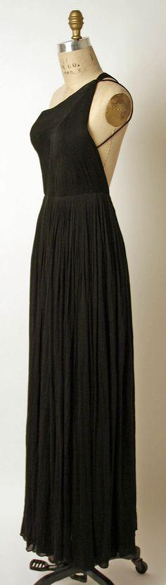 Evening dress Madame Grès (Alix Barton) (French, Paris 1903–1993 Var region) Date: 1970 Culture: French Medium: silk