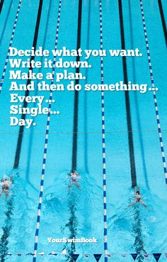 """""""Decide What You Want..."""" motivational swim poster - $29"""