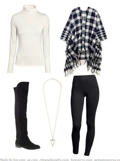 Not sure how to wear leggings? Try one of these five chic outfit ideas, with suggestions for everything from athleisure and cozy weekend looks, evening ensembles, and even how to wear leggings to work. How To Wear Flannels, How To Wear Vans, How To Wear Leggings, How To Wear Scarves, What To Wear, Dressy Outfits, Office Outfits, Night Outfits, Office Wear