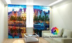 Fotogardinen Vorhänge in Luxus Fotodruck 3D. Maßanfertigung.
