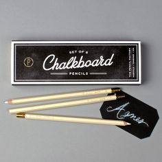 """Chalkboard"" Pencil Set 