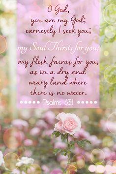 ❥ Psalm 63:1