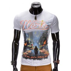 T-shirt with hero design at www.taylorsfashion.eu