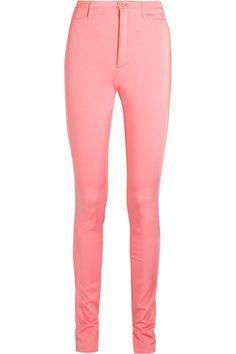 Balenciaga - Stretch-satin Skinny Pants - Pink - FR42