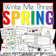 Spring Writing - Sharing Kindergarten