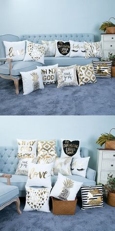 Foil Print Pillows for everyday!