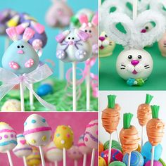 18 Easter Cake Pops - somehow being on a stick makes every dessert better!