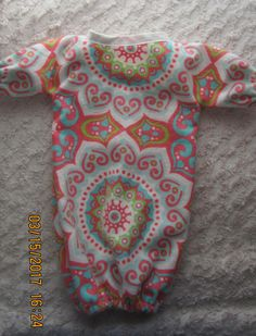 READY to SHIP AZTECA doll bunting will fit Bitty Baby or any 15 inch doll, doll pajamas, sleeper by JMagaClothing on Etsy