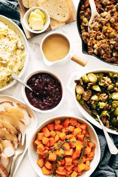 All the Thanksgiving sides you need - made easy in one hour! Roasted garlic mashed potatoes, herbed squash, and maple mustard brussels sprouts. Perfect for a small gathering! #thanksgiving #sides #sheetpan Roasted Garlic Mashed Potatoes, Thanksgiving Sides, Thanksgiving Recipes, Sheet Pan, Sprouts, Make It Simple, Mustard, Side Recipes, Veggie Recipes