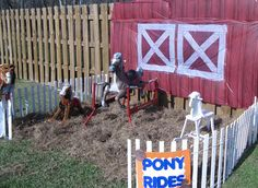 "Photo 1 of 32: Farm, Barnyard / Birthday ""Baylen's Barnyard Bash"" | Catch My Party"