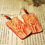 earrings - USING STAMP, make your own.