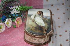"""Купить Шкатулка """"Грушенька"""" - разноцветный, шкатулка для украшений, купить подарок женщине, шкатулка декупаж"""