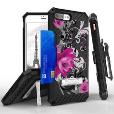 Tri Shield For Apple iPhone 7 Plus Lotus, Belt Clip Holster