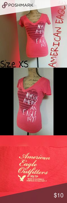 AMERICAN EAGLE CAP SLEEVE TSHIRT SZ XS SUPER CUTE. PERFECT PREOWNEND CONDITION. ANY QUESTIONS PLEASE ASK BEFORE YOU BUY. THANKS. AMERICAN EAGLE  Tops Tees - Short Sleeve