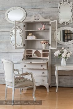 VINTAGE ROMANCE: (before & after Secretary makeover)