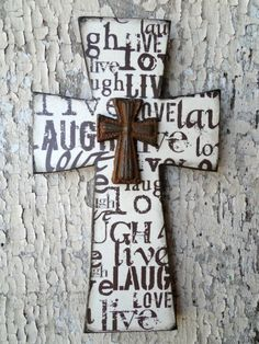 Wooden Distressed Cross