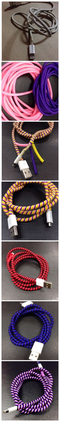 DIY cord protector for all kinds of wires :) (chargers,earphones,etc) #iphone #iphoneproblems
