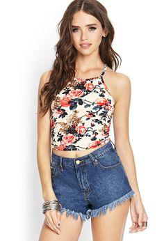 Textured Knit Rose Cami   FOREVER21 #Floral #SummerForever