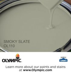 SMOKY SLATE OL110 is a part of the greens collection by Olympic® Paint.